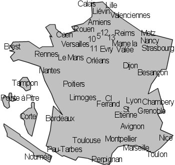 carte de france ufr staps